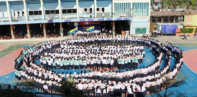 กิจกรรมบูมอำลานักเรียนชั้นม.3 และ ม.6 ปีการศึกษา 2562